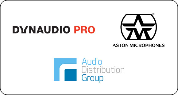 Audio Distribution Group announced as European Distributor for Dynaudio PRO Studio Monitors and Aston Microphones
