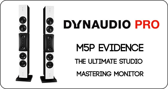 Dynaudio PRO release the M5P Evidence,  the ultimate studio mastering monitor - a true benchmark
