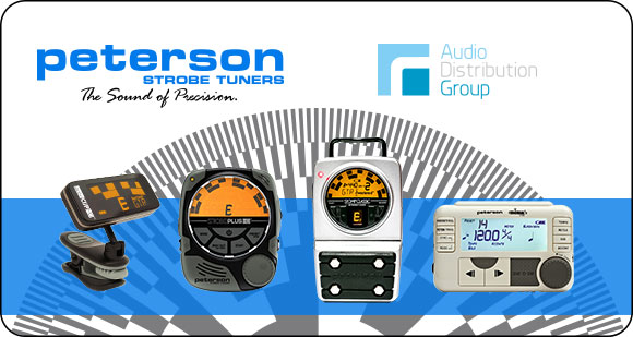 Audio Distribution Group announces the addition of Peterson Tuners and Metronomes to their brand portfolio in Europe