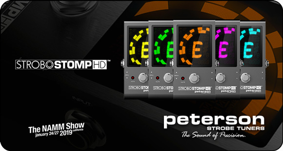 Peterson Metronomes and Tuners launch StroboStomp HD