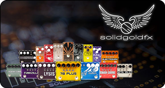 Audio Distribution Group announces the addition of SolidGoldFX effect pedals to their brand portfolio in Europe