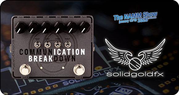 SolidGoldFX launch Communication Breakdown – Dual Fuzz Machine