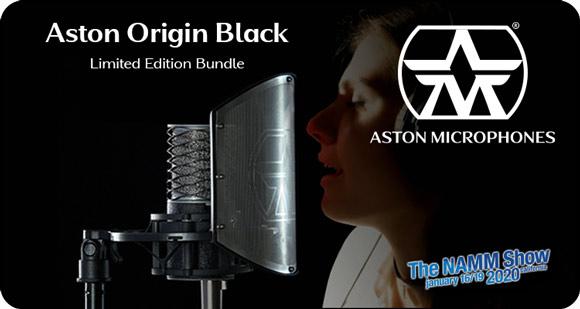Aston Microphones launches Aston Origin Black Limited Edition Bundle