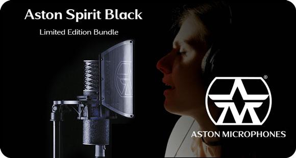 Aston Microphones launches Limited Edition Aston Black Spirit Bundle
