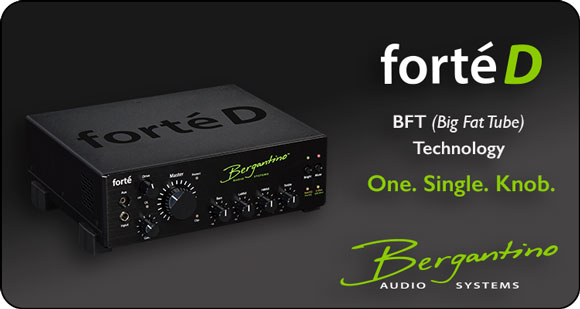 Bergantino launches Forté D bass amplifier with BFT drive