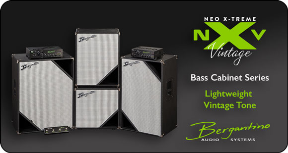Bergantino Audio Systems launches NXV (NEO X-Treme Vintage) Series Lightweight Bass Cabinets