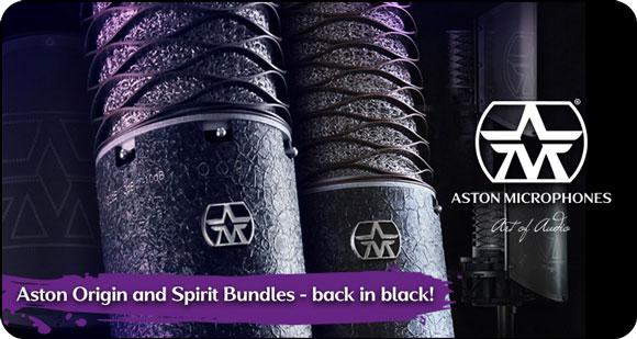 Aston Microphones Origin and Spirit Bundles - Back in Black!