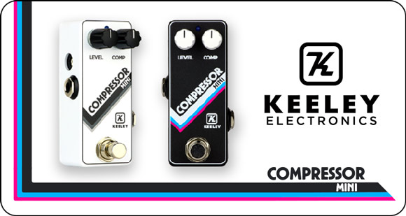 Keeley Electronics launches Compressor Mini - Standard Black and Limited Edition Arctic White