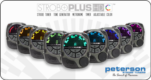 NOW SHIPPING: Peterson StroboPLUS HDC - Handheld Strobe Tuner and Metronome with Adjustable Color Display
